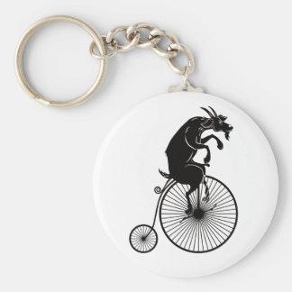 Porte-clés Chèvre montant un vélo de quart de penny de penny