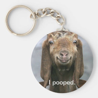 Porte-clés Chèvre pooping