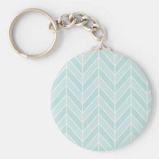 Porte-clés chevron de bleu de turquoise