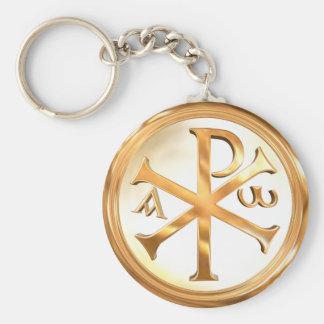 Porte-clés Chi-Rho d'or