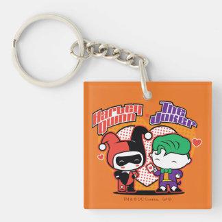 Porte-clés Chibi Harley Quinn et coeurs de joker de Chibi