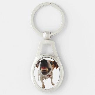Porte-clés Chien agressif - chien fâché - chien drôle