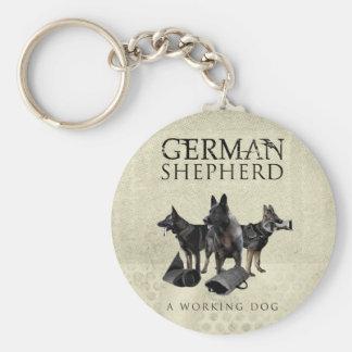 Porte-clés Chien de berger allemand de travail - GSD