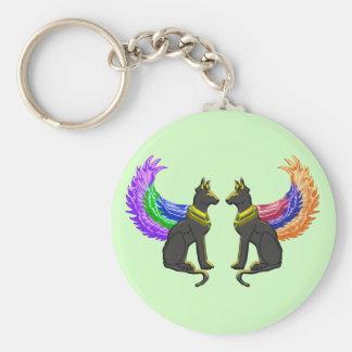 Porte-clés chien égyptien avec des ailes