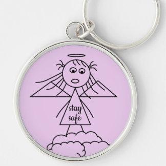 Porte-clés Chiffre mignon sûr de fille d'ange de bâton de