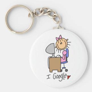 Porte-clés Chiffre porte - clé de bâton de Google