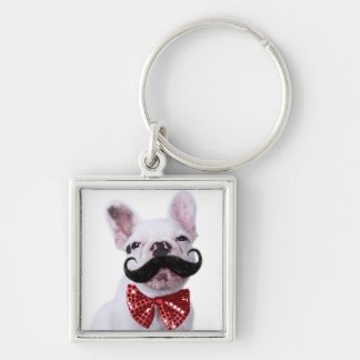 Porte-clés Chiot de chien de Taureau de Français avec la