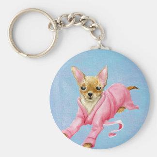 Porte-clés Chiwawa dans un porte - clé de chien de peignoir