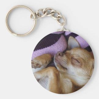 Porte-clés Chiwawa de sommeil