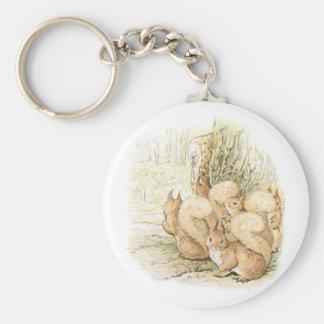 Porte-clés Cinq écureuils