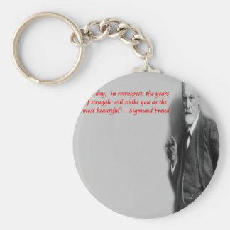 """Porte-clés Citation célèbre de """"lutte"""" de Sigmund Freud"""