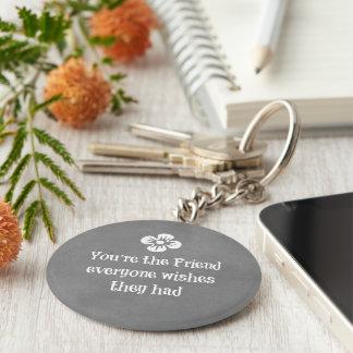 Porte-clés Citation d'ami