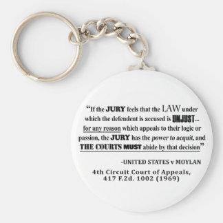 Porte-clés Citation de fortune de jurisprudence de