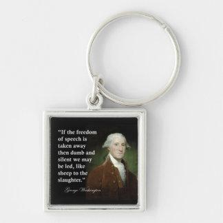 Porte-clés Citation de liberté de parole par George