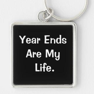 Porte-clés Citation de motivation de fin d'année financière