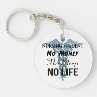 Porte-clés Citation drôle d'infirmière d'étudiant de soins