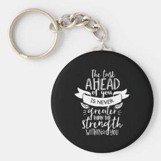 Porte-clés Citation inspirée de la vie la force chez vous