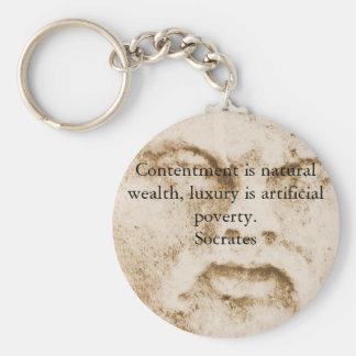 Porte-clés Citation inspirée de Socrates