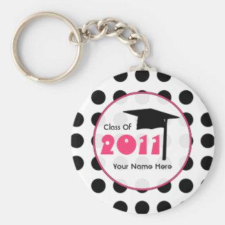 Porte-clés Classe d'obtention du diplôme de 2011 - point et