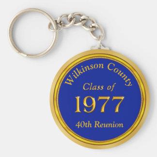 Porte-clés Classe personnalisée peu coûteuse de 1977 porte -