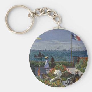 Porte-clés Claude Monet - le jardin à l'art de Sainte Adresse