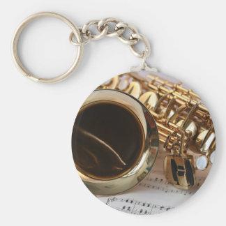 Porte-clés Clés de Notenblatt de lustre d'or de musique de