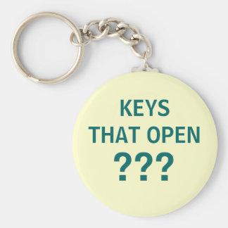 Porte-clés CLÉS QUI S'OUVRENT ? ? ? - porte - clé pour des