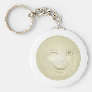 Porte-clés Cligner de l'oeil le visage de lune de miel