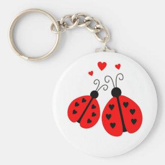 Porte-clés Coccinelles dans le porte - clé d'amour
