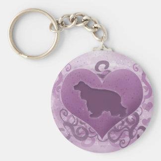 Porte-clés Cocker pourpre Valentine