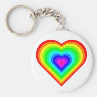 Porte-clés Coeur d'arc-en-ciel