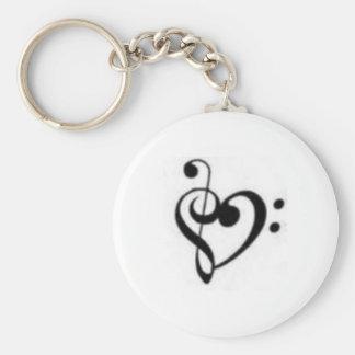 Porte-clés coeur de clef