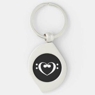 Porte-clés Coeur de musique