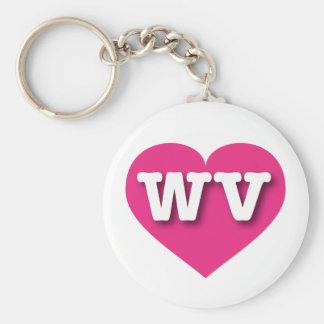 Porte-clés Coeur de roses indien de la Virginie Occidentale -