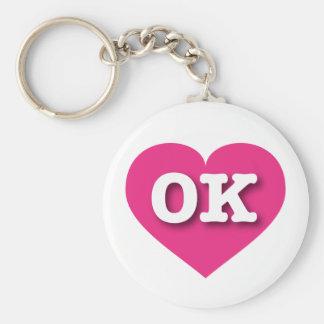 Porte-clés Coeur de roses indien de l'Oklahoma - grand amour