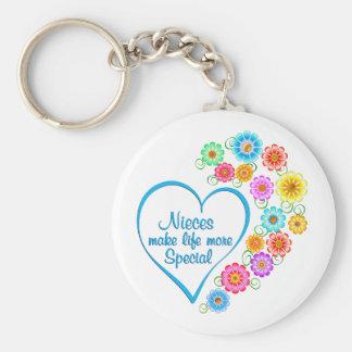 Porte-clés Coeur de Special de nièces