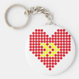 Porte-clés Coeur en avant rapide