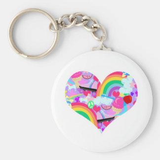 Porte-clés Coeur épique d'explosion d'années '80