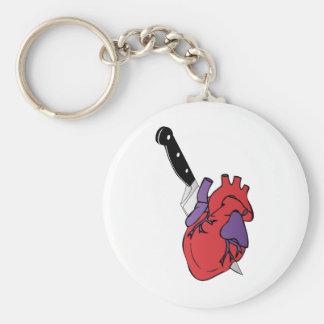 Porte-clés coeur et couteau
