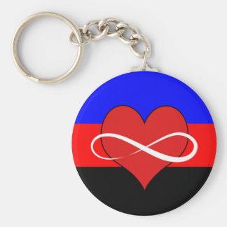 Porte-clés Coeur infini avec le drapeau