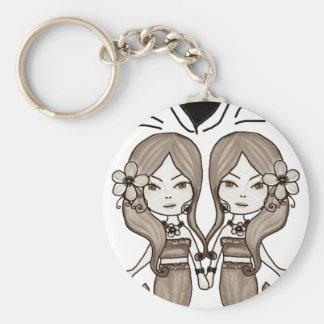 Porte-clés Coeur jumeau de sirènes