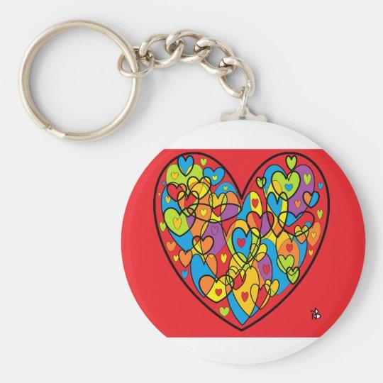 Porte-clés coeur rouge