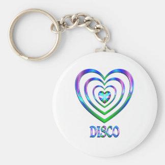 Porte-clés Coeurs de disco