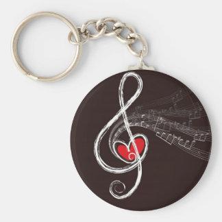 Porte-clés Coeurs de musique