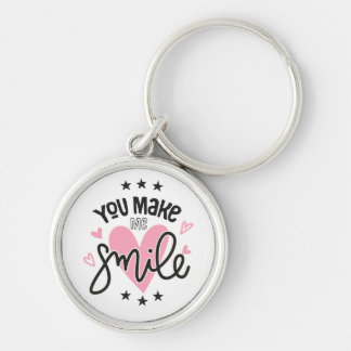 Porte-clés Coeurs de rose de note d'amour de sourire épousant