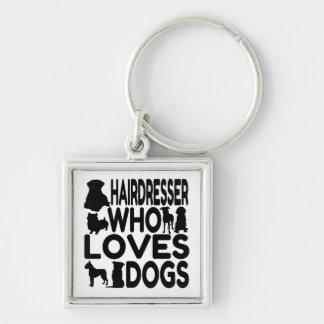 Porte-clés Coiffeur qui aime des chiens