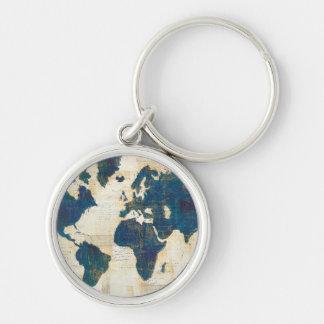 Porte-clés Collage de carte du monde
