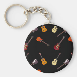 Porte-clés Collage de guitare électrique et acoustique