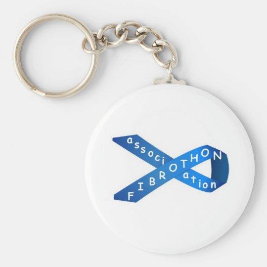 Porte-clés collection ruban bleu fibrothon