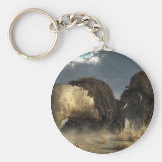 Porte-clés Combat de bison